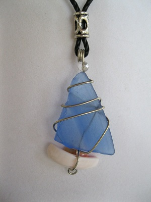 Cobalt-Blue-Sailboat-Beach-Glass-Necklace