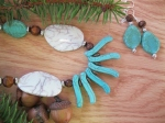 Turquoise-Stone-and-Wood-Necklace-and-Earring-Set