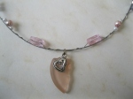 Pink-Beach-Glass-with-Silver-Heart-Charm