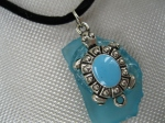 Turquoise-Beach-Glass-with-turquoise-turtle-charm