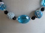 Turquoise-Black-and-Silver-Bead-Set