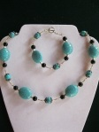 Turquoise-Black-and-Silver-Set