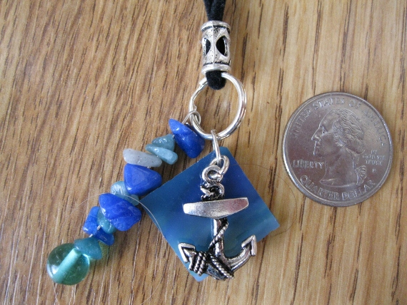 Blue-Mosaic-with-Anchor-Charm-Necklace