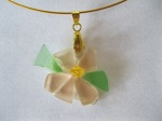Pink-and-Green-Beach-Glass-Flower-Necklace