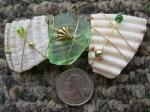 Green-Beach-Glass-with-Shells-Barrette