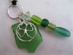 Green-Shamrock-And-Glass-Bead-Necklace