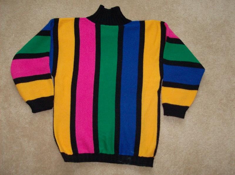 Multi-Color-Stripe-Sweater