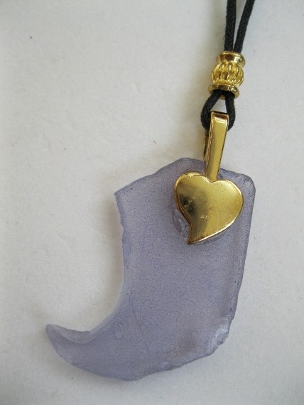 Purple-with-Gold-Heart-Necklace