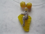 Rare-Bright-Yellow-Beach-Glass-with -eahorse-Charm