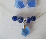 Cobalt-Blue-Beach-Glass-Necklace