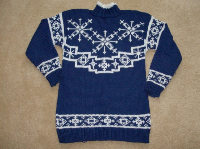 Snowflake-Bulky-Knit-Sweater