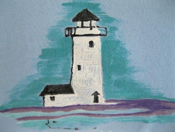 Hand-Painted-Lightohouse-on-Sweatshirt