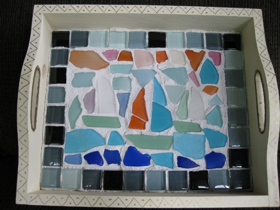 BEACH GLASS SERVING PLATTER