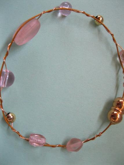 Pink-Glass-Bead-Bracelet
