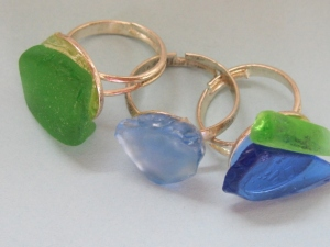 Beach Glass Rings