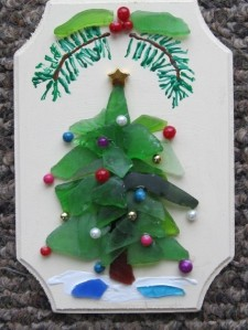 Beach Glass Christmas Tree