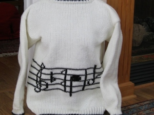 MUSIC SWEATER FRONT