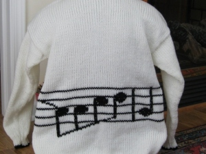 MUSIC SWEATER BACK
