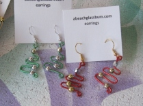 Wire Christmas Tree Earrings - $10