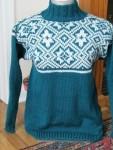 Teal-Geometric-Design-Sweater