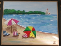 Cedar Bay painting (2)