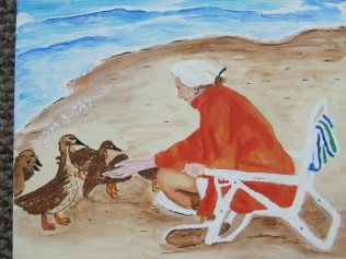 Painting-Oma Feeding Ducks 002 (428x570)