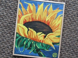SUNFLOWER PAINTING 001 (570x428)