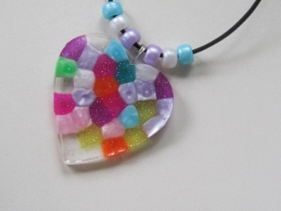PONY BEAD SUN CATCHERS (8)
