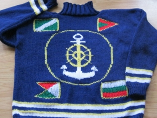 CAROL'S ANCHOR SWEATER