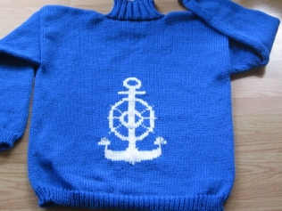 BARB'S ANCHOR SWEATER