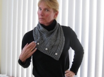 CABLED SCARF (2)
