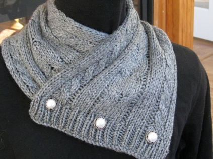 CABLED SCARF (4)