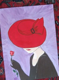 LADY IN A RED HAT (1)