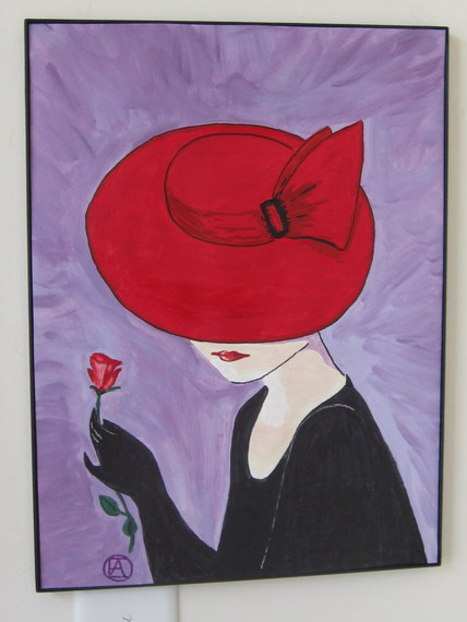 LADY IN A RED HAT (2)