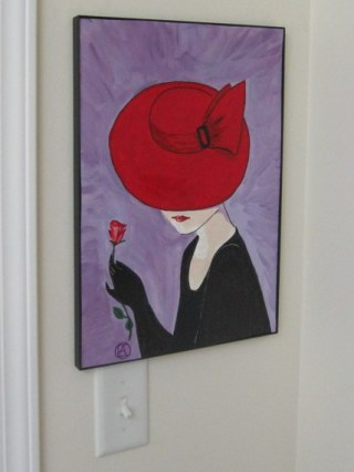 LADY IN A RED HAT (3)