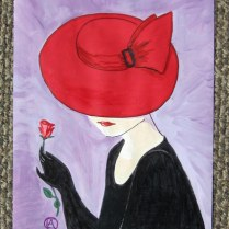 LADY IN A RED HAT (6)