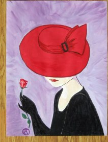 LADY IN A RED HAT (7)