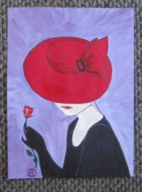 LADY IN A RED HAT (8)