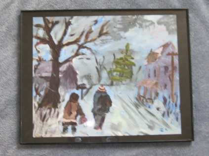 winter walk framed (2)