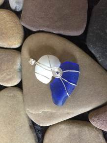 Examples of Beach Glass Pendants Available